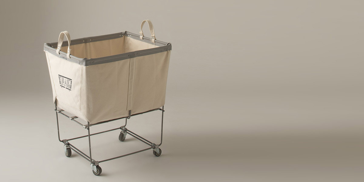 small spring bag holder laundry cart